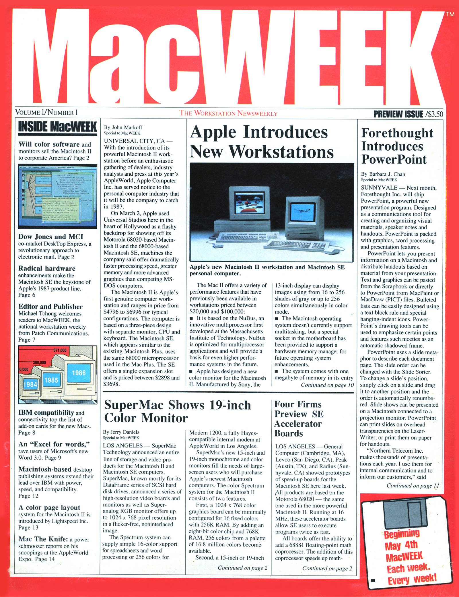 MacWeek first issue